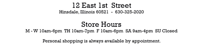 Hinsdale Location Hours Block